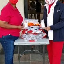 Cheryl Alli with Wanda Moore at Rising Star Baptist Church in Tucson