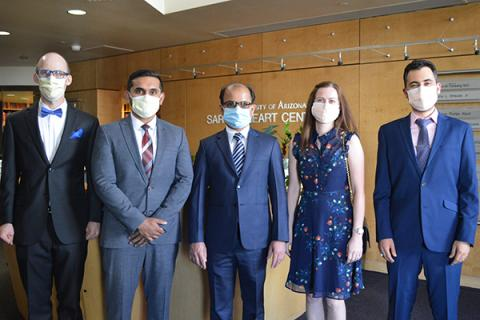 Cardiovascular Disease Fellowship Graduates: Christopher Angus, MD, Jovil Kannampuzha, MD, MSc, Bishnu Dhakal, MBBS,  Kristina Skinner, DO, and Saad Kubba, MD