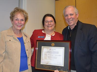 Mary Anne Fay, Dr. Nancy Sweitzer, President Robert Robbins
