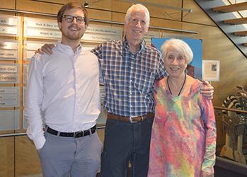 Greg Gilles, Heart Series volunteer, with Dr. Charles Katzenberg and Edna Silva, RN