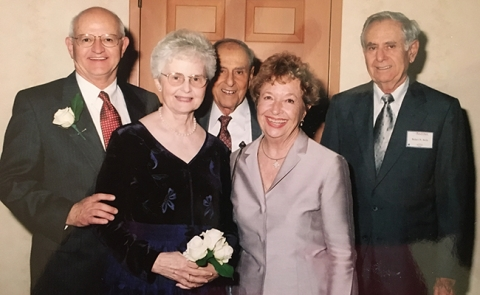 Gordon A. Ewy, MD, Distinguished Endowed Chair of Cardiovascular Medicine. Pictured from left: Dr. Ewy, Priscilla Ewy, and Victor, Patricia and Robert Arida.