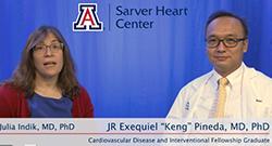 Drs. Keng Pineda and Julia Indik conduct research during cardiology fellowship