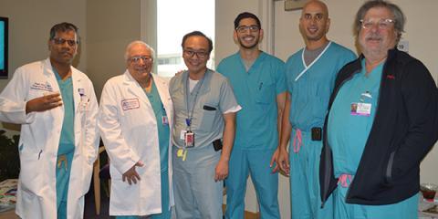 """Kapil Lotun, MD, Mark Friedman, MD, J.R. """"Keng"""" Pineda, MD, PhD, Sridhar Reddy, MD, Ranjith Shetty, MD, Tom Lassar, MD"""