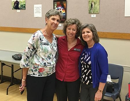 Nancy Ermoian, volunteer, with Sarver Heart Center staff, Jenn Bunger and Katie Maass