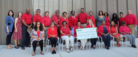 Sarver Heart Center Community Coalition for Heart Health Education receives check on Walmart National Day of Giving
