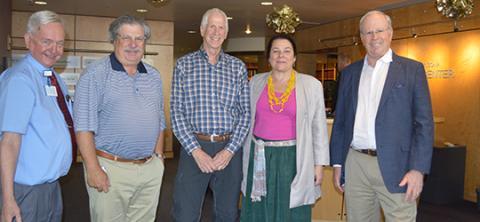 Drs. William Roeske, Tom Lassar, Charles Katzenberg, Nancy Sweitzer and Irving Kron