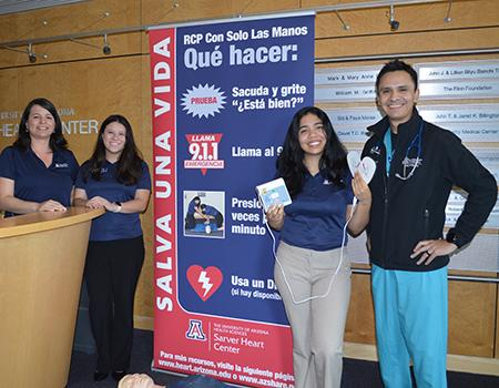UA staff and student volunteers produced CPR training materials in Spanish.